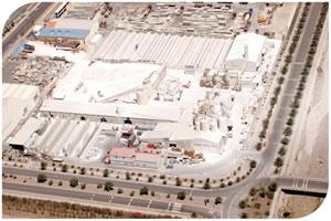 Vista aérea de la fábrica en Arinaga