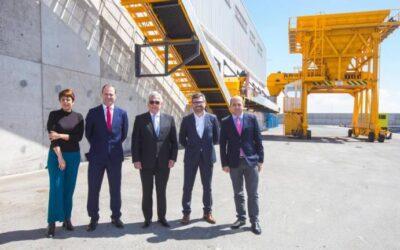 Inauguración de la terminal granelera en Arinaga
